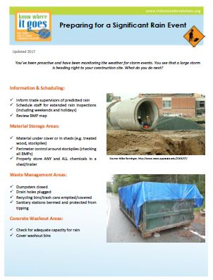 Preparing Your Site For A Significant Rain Event
