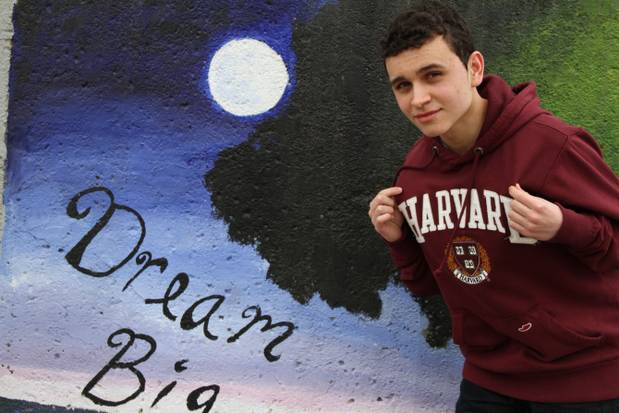 Jean Paul Valencia, a senior at Central Falls High School, has a 4.49 grade-point average and aced two of his SAT subject tests. He is expected to be the class valedictorian this spring.