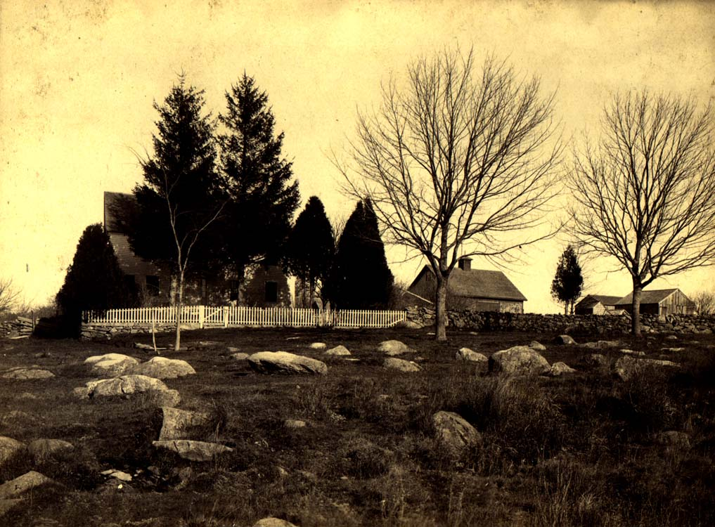 This undated photograph is ca. 1889 and was probably taken by W. B. Davidson (a photographer from Wakefield, R.I.) at the request of the State's Board of Mangers. -From Beginnings: The Earliest Days of the Campus by William Turnbaugh in University of Rhode Island Alumni Quarterly, Summer 1979.