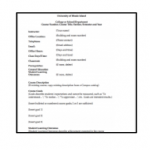 Traditional Syllabus Template
