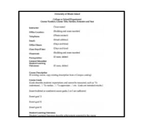 blank syllabus template and annotated descriptions