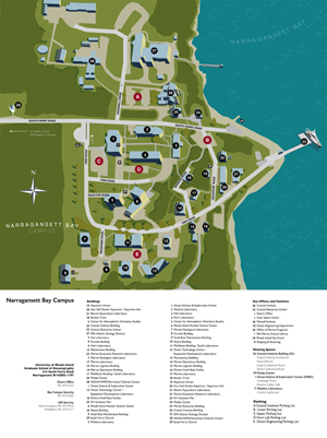 uri map of campus Bay Campus Map And Directions Visit Uri uri map of campus