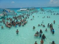Monitoring the world's most famous marine wildlife interaction site: Stingray City, Cayman Islands