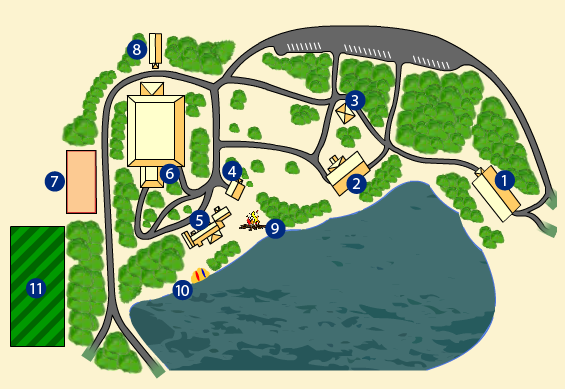 map of whispering pines